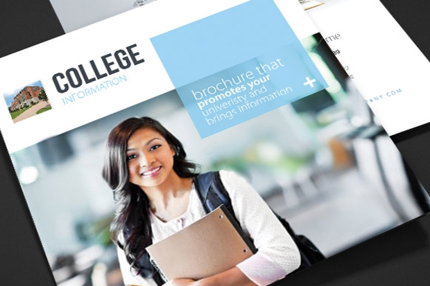 College Brochures Printable PSD AI InDesign Vector EPS - College brochure templates