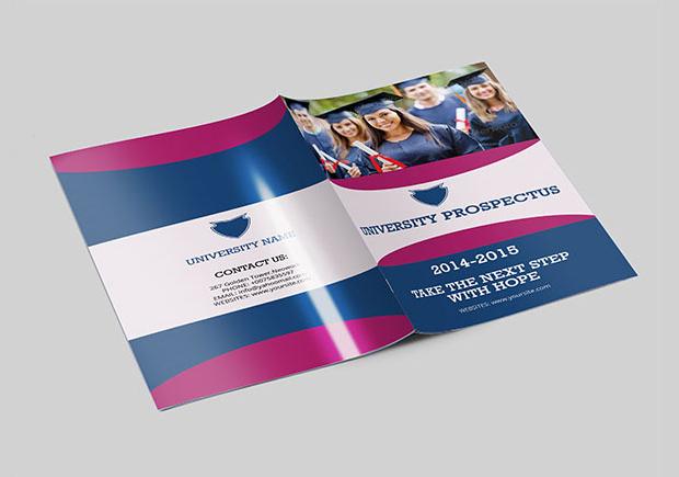 modern college university brochure