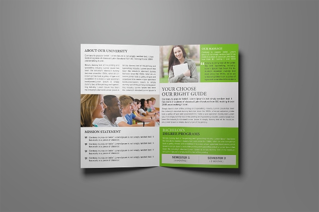 College Brochures  Printable Psd Ai Indesign Vector Eps