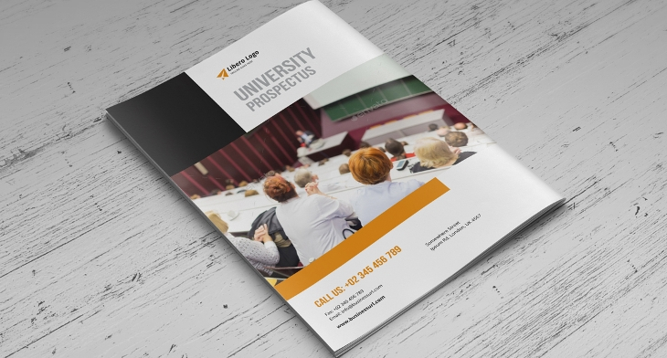 15 college brochures printable psd ai indesign for College brochure templates free download