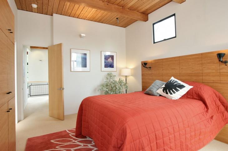 modern coral bedroom design