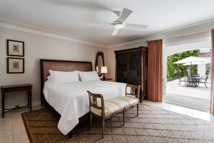 mediterranean coral bedroom