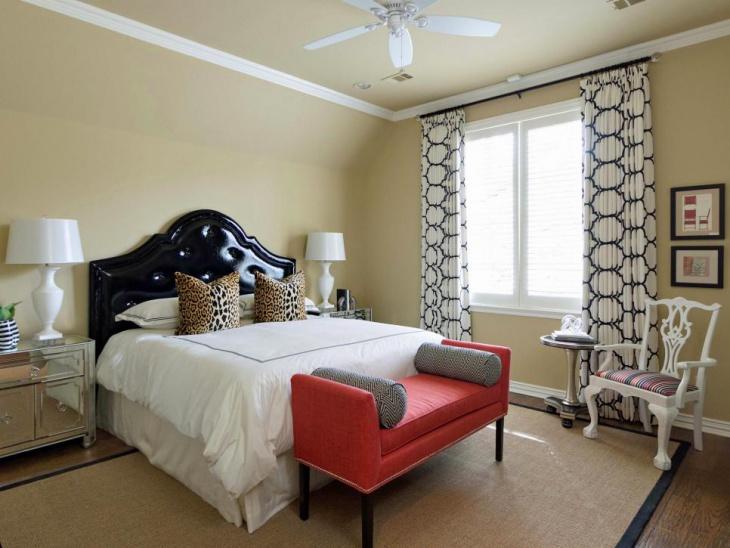 coral bedroom design