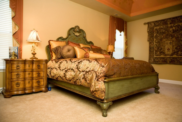 tuscan coral bedroom design