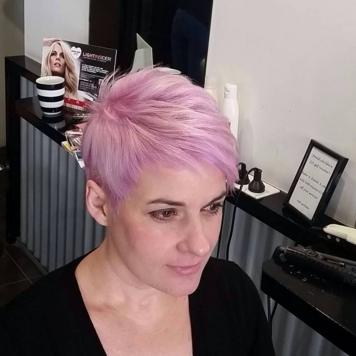short lilac hairstyle