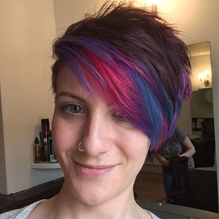 Lilac Pixie Haircut
