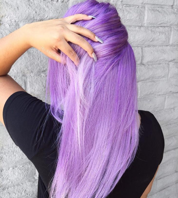 Dark Lilac Haircut