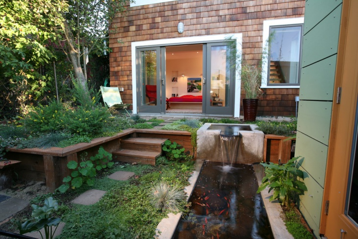 18 garden pond designs ideas design trends premium for Small pond house plans