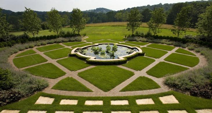 raised garden pond design