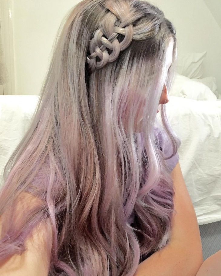 braided lilac hairstyle