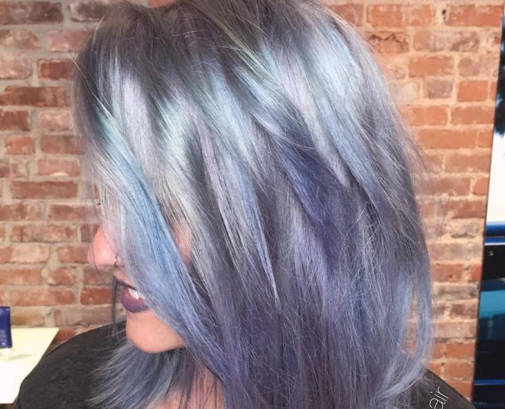 Messy Lilac Haircut
