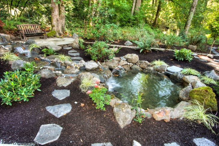 18 garden pond designs ideas design trends premium for Rock ponds designs