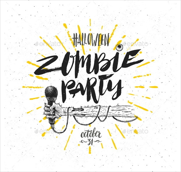 zombie party vector illustration