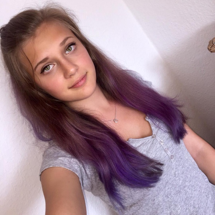 natural lilac hairstyle