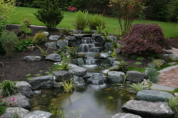 18 garden pond designs ideas design trends premium for Types of pond design