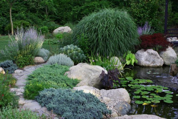 garden pond walkway