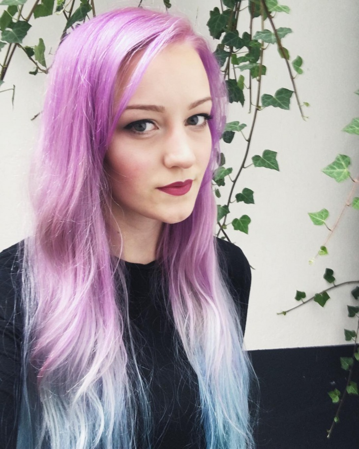 long lilac hairstyle