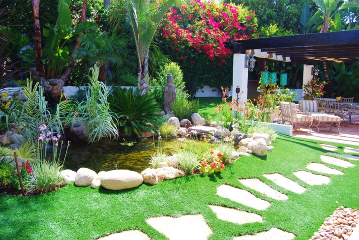 18 garden pond designs ideas design trends premium for Water garden design