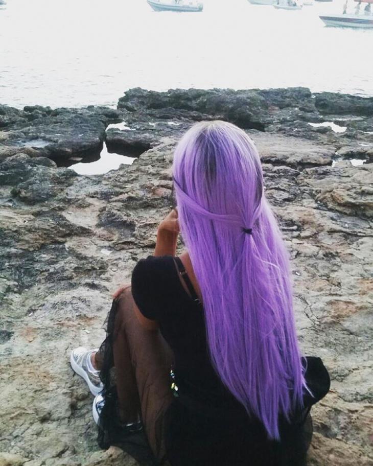 Lilac Half Ponytail