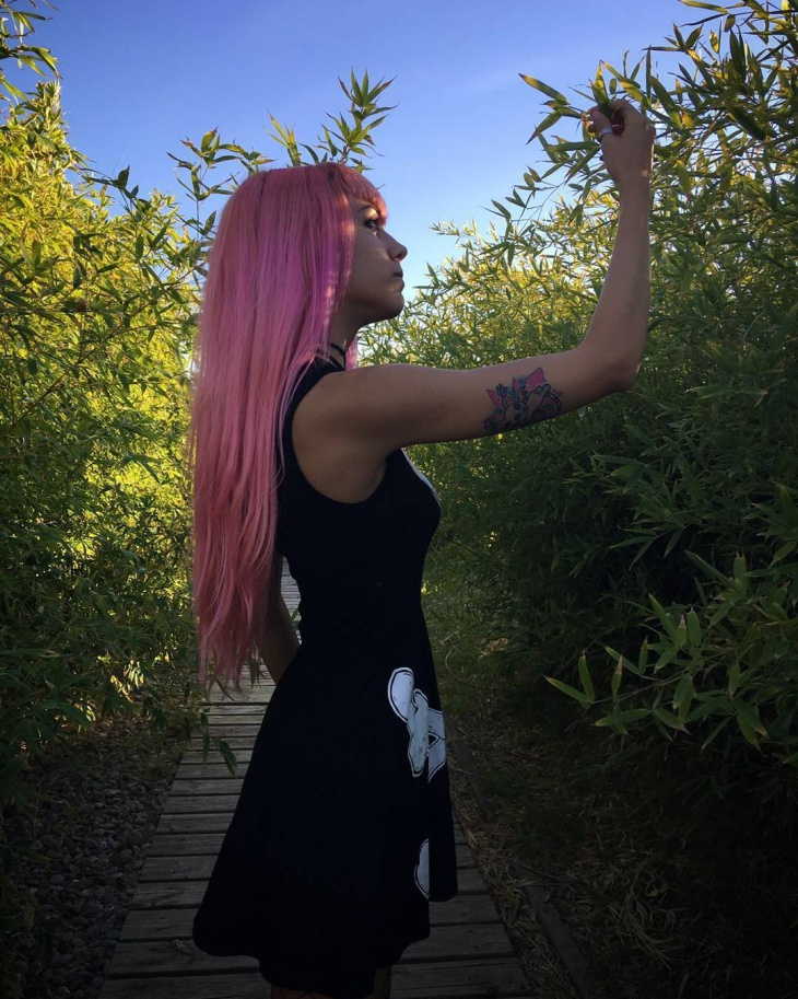 Straight Long Lilac Hair