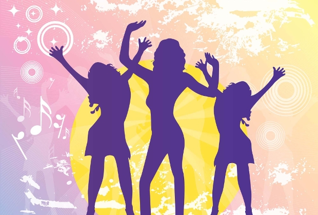 colorful party dancing vector