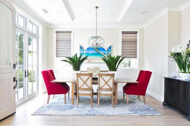 Beach Style Neutral Dining Room