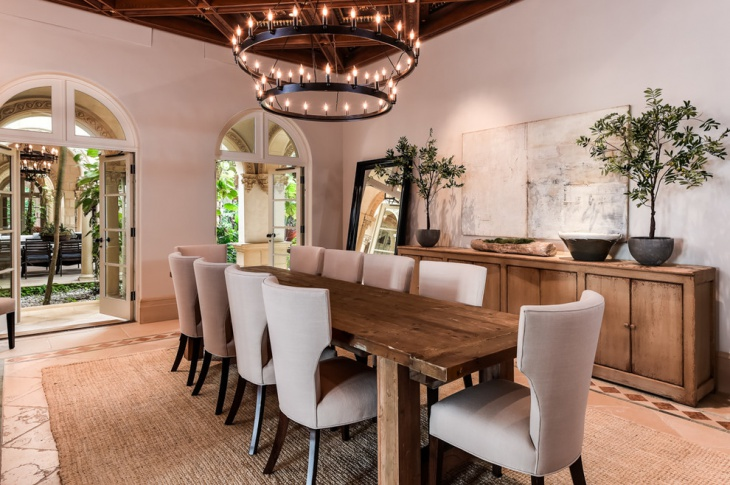 Mediterranean Neutral Dining Room