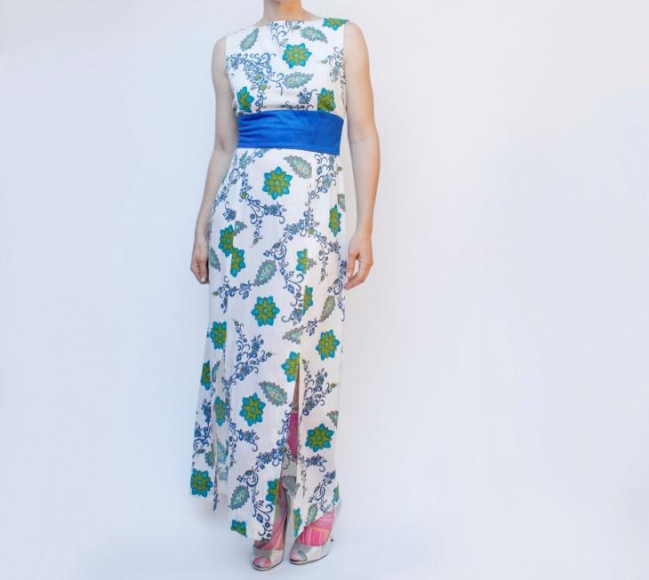 floral double slit dress