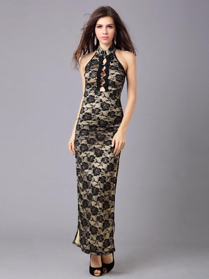 high slit evening dress
