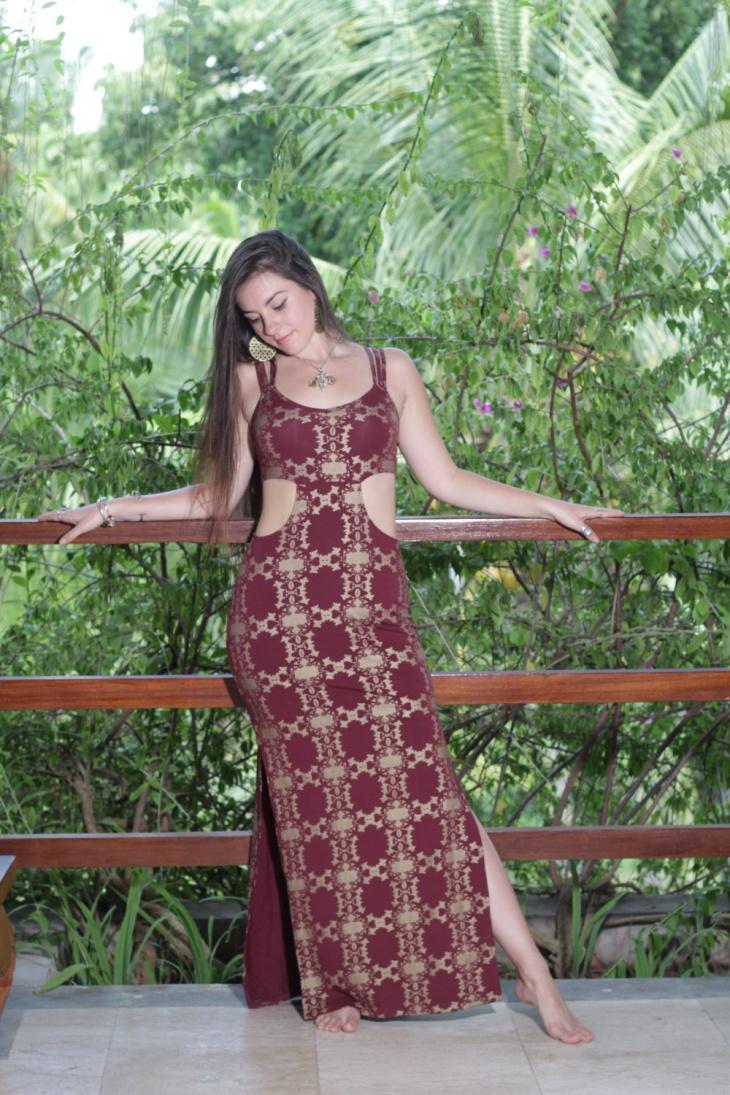 long slit dress design