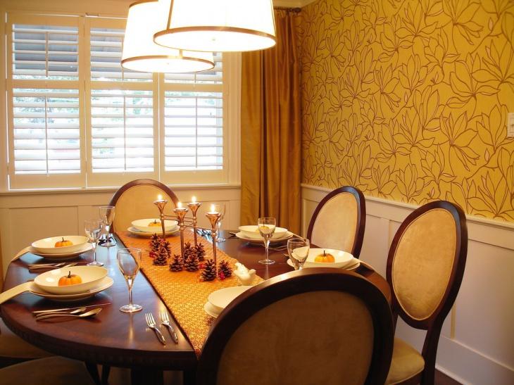 vintage neutral dining room design