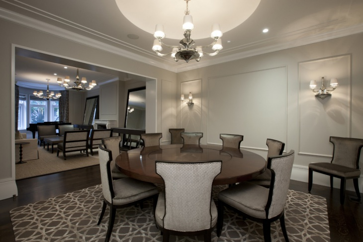 gray neutral dining room