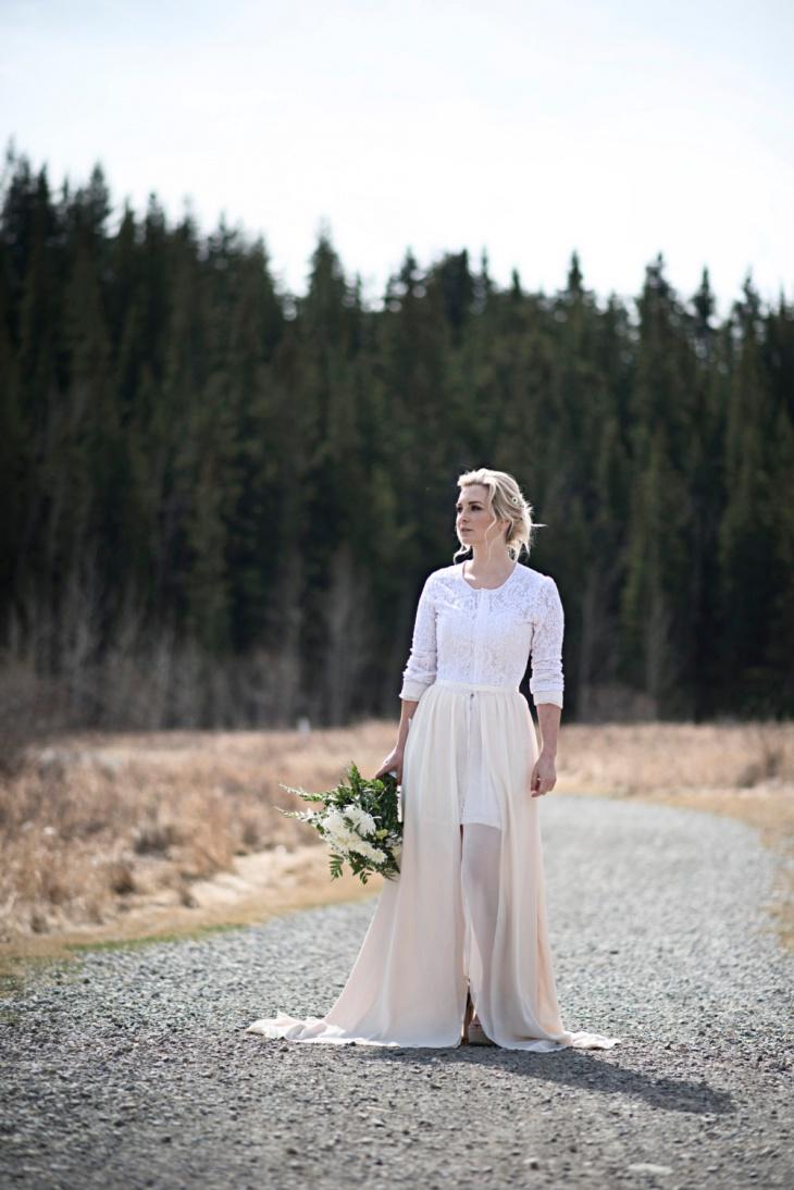 slit wedding dress design