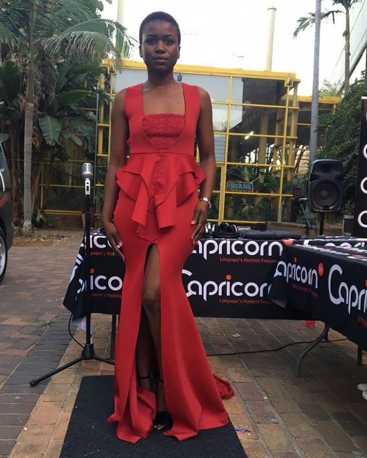 front slit red dress