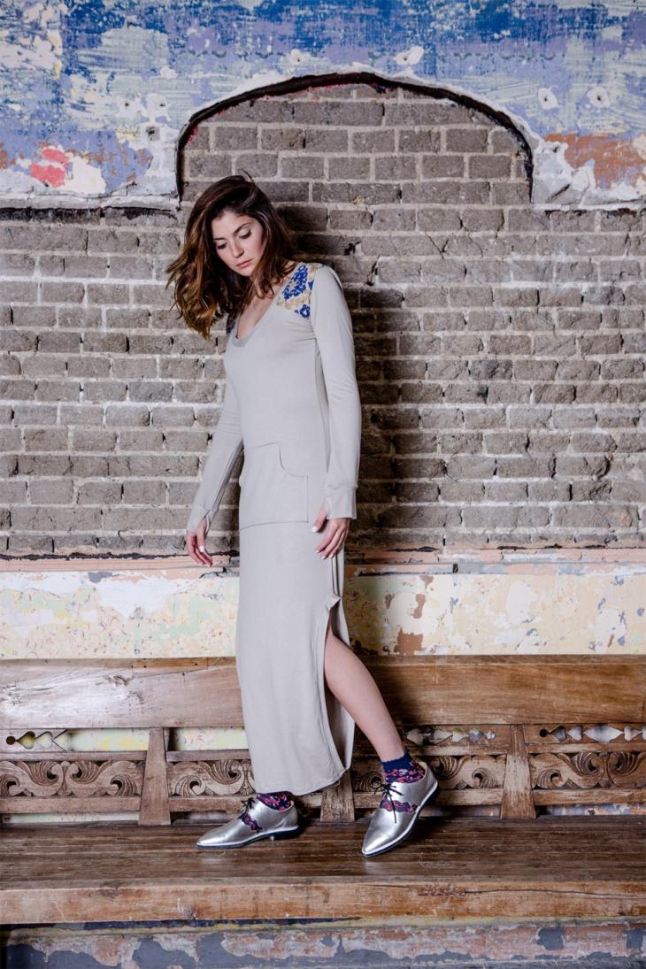 slit dress with pockets