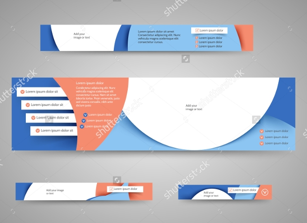 Set of Abstract Advertising Banners