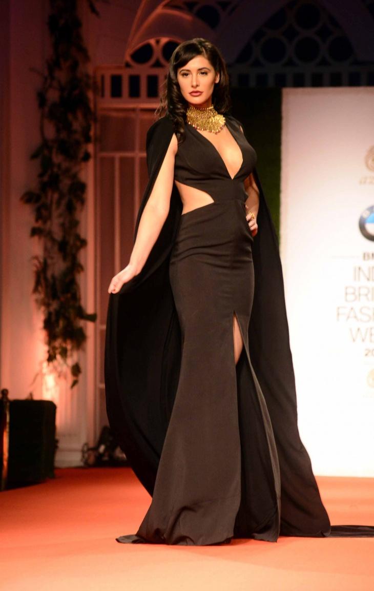 black celtic slit dress