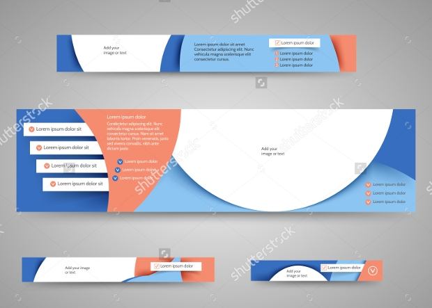 Abstract Advertising Banner Set