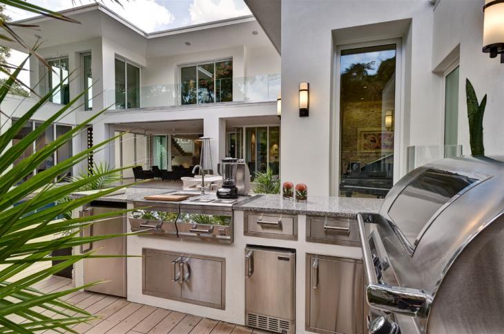 marble outdoor kitchen countertop