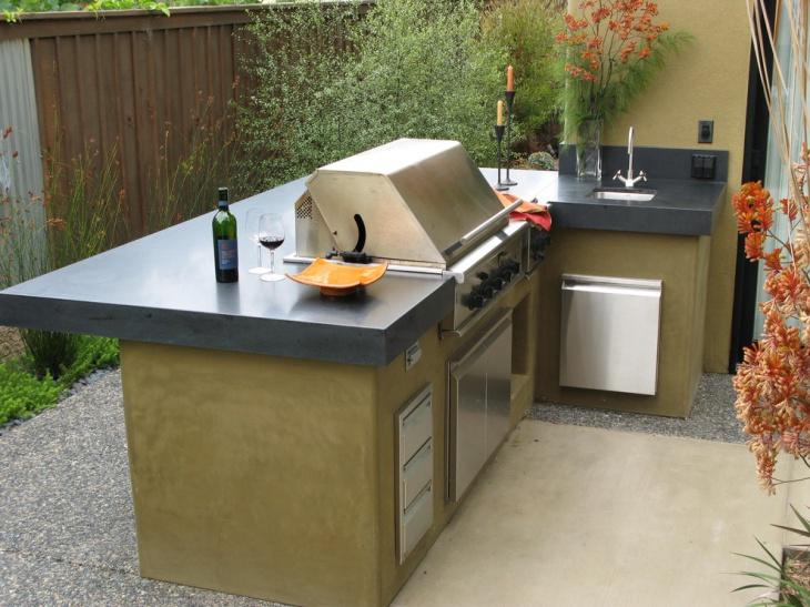 modern outdoor kitchen countertop design