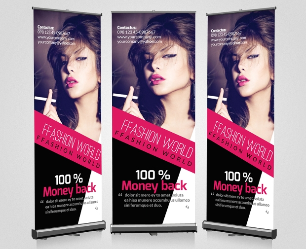 Advertisement Roll Up Banners