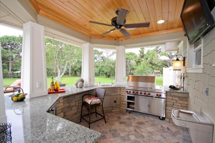 concrete outdoor kitchen design