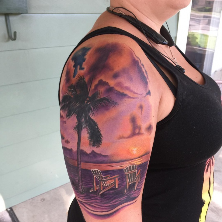 21 sunset tattoo designs ideas design trends premium