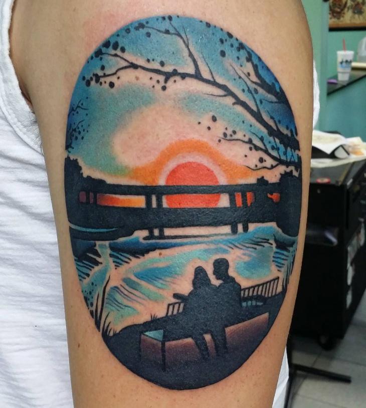 Sunset Fantacy Tattoo Idea