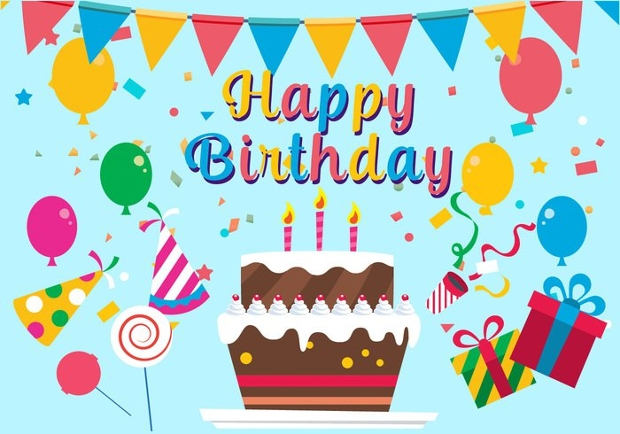 Free Happy Birthday Vector Illustration
