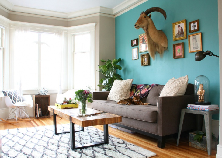 Wall Decor Turquoise Living Room