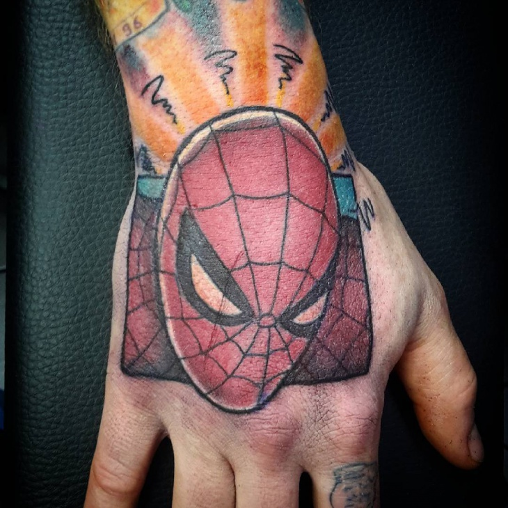 Spiderman Tattoo for Palm