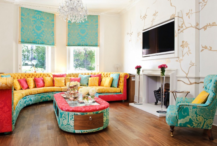 Color Turquoise Living Room