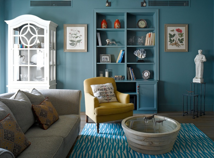 Decorative Turquoise Living Room