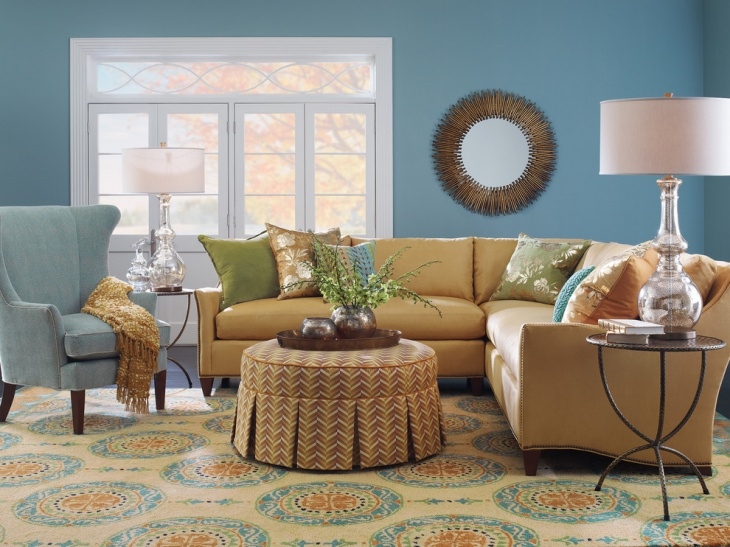 amazing turquoise living room
